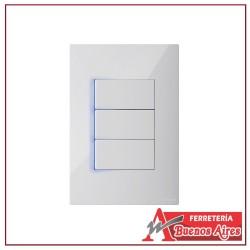Interruptor Conmutable Triple Con Luz Piloto Clickme