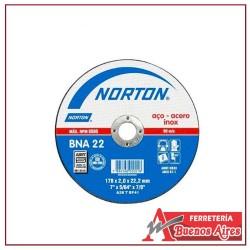 Disco Corte Metal De 9 Norton Bna 22