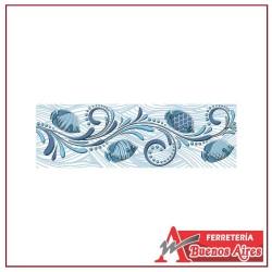 Cenefa Listello Allegro Azul 8 x 25