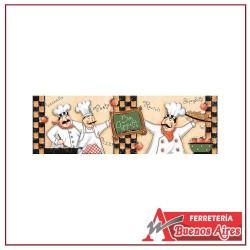 Cenefa Liston Cocina Bon Apetit 13.5 x 43