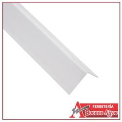 Esquinero Plástico Blanco de 240CM