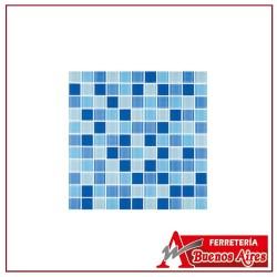 Mosaico Cristal Confeti Azul 30 X 30